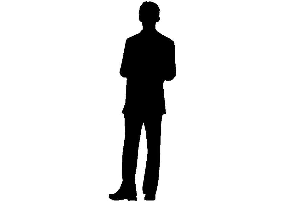 Sitting person silhouette back clipart