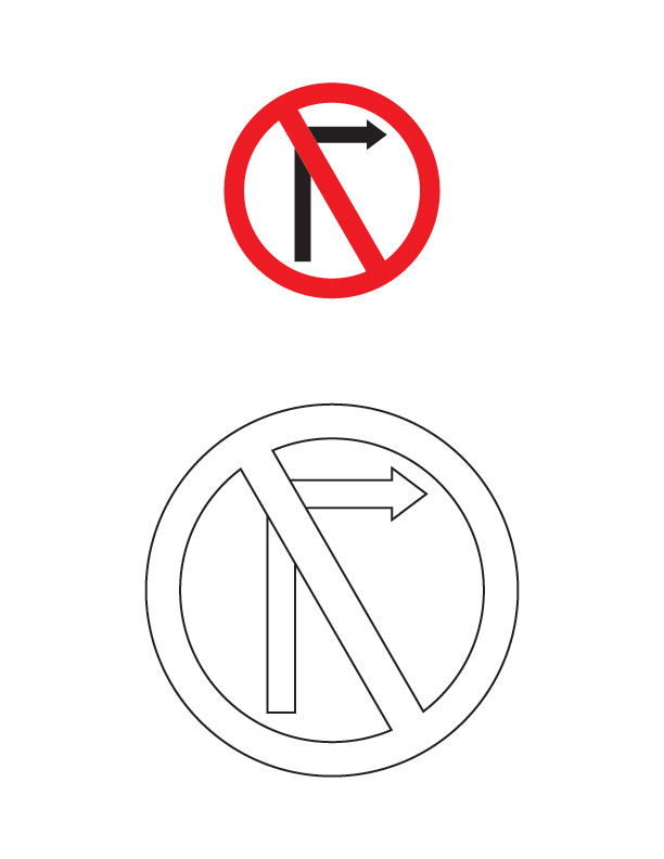 Stop light coloring page clipart best for Go sign coloring page