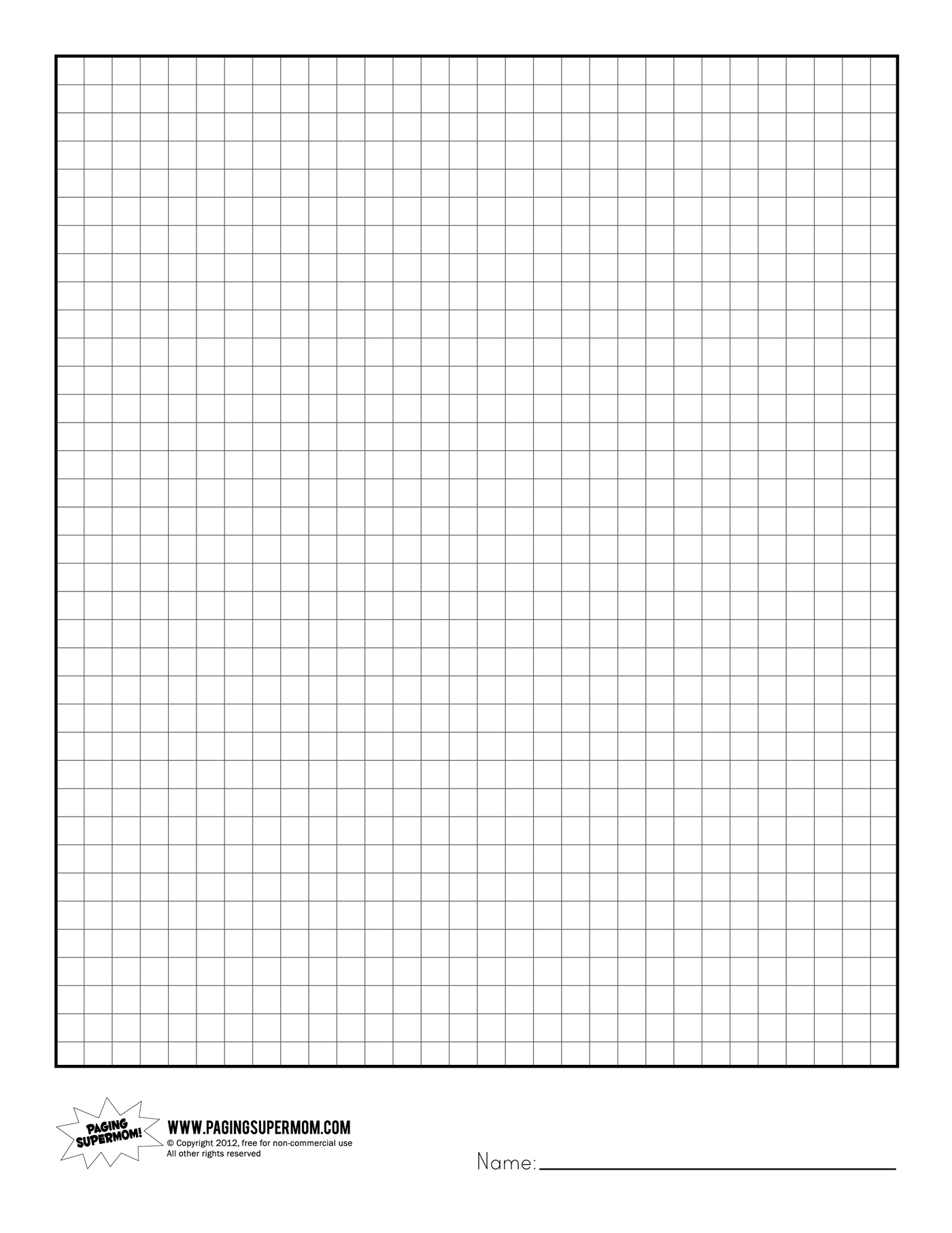 print graphing paper