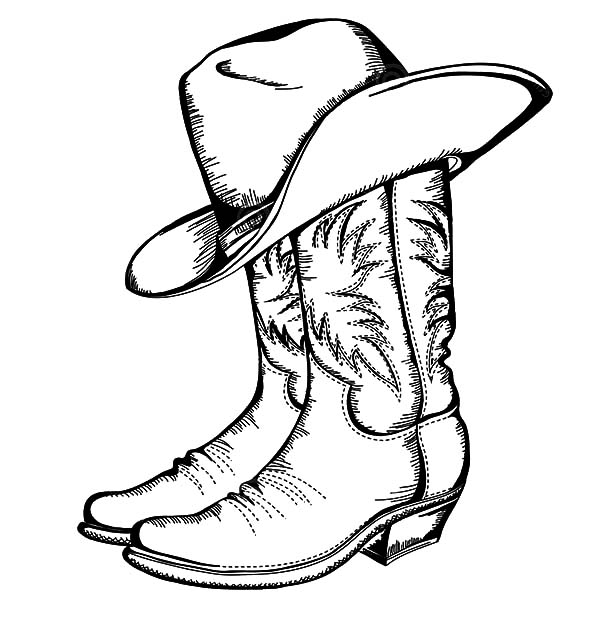 cowboy boots coloring page guthriemedia