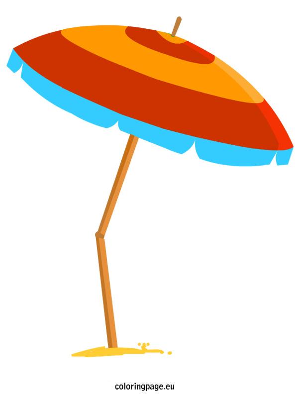 Clip Art Beach Umbrella Clipart umbrella of beach clipart best coloring page