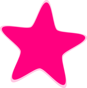 Pink stars clipart