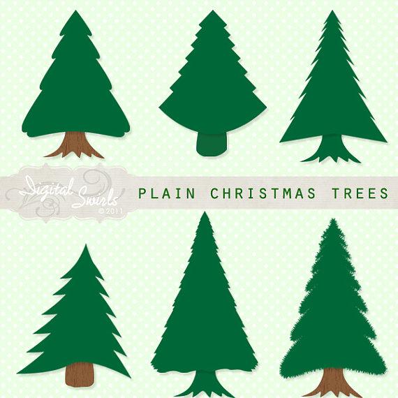 Plain Christmas Tree on Simple Pine Tree Clip Art