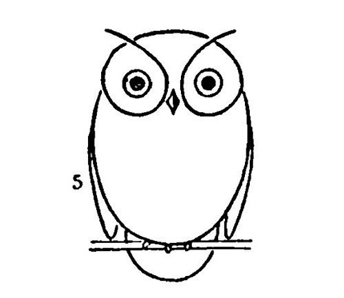 Simple Owl Drawing | Draw An Owl ... - ClipArt Best ...