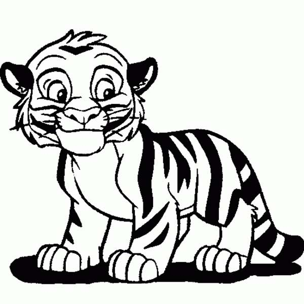 Cartoon white tiger clipart best for White tiger coloring pages
