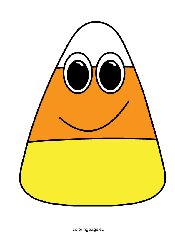 Candy corn fall candy clipart