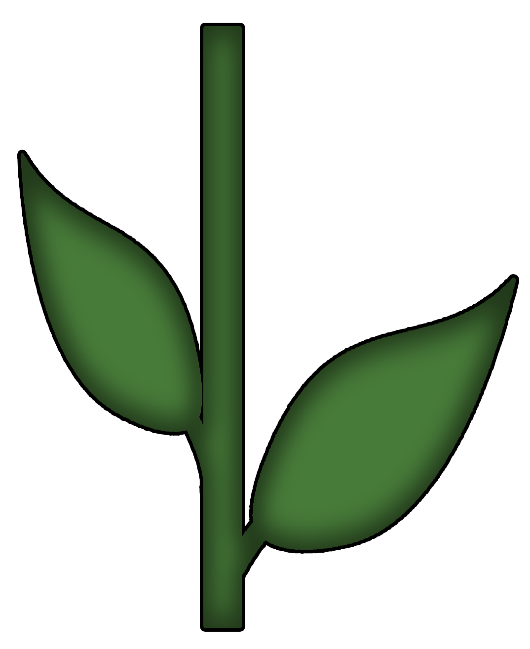 Flower Stem and Leaf Template | preview | quilting | Pinterest ...