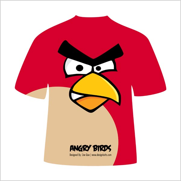 Free Vector Angry Birds T-Shirt Designs In (.ai, .eps, .cdr ...