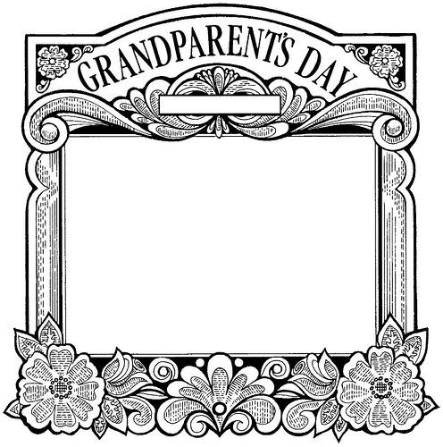 grandparents clipart black and white - photo #21