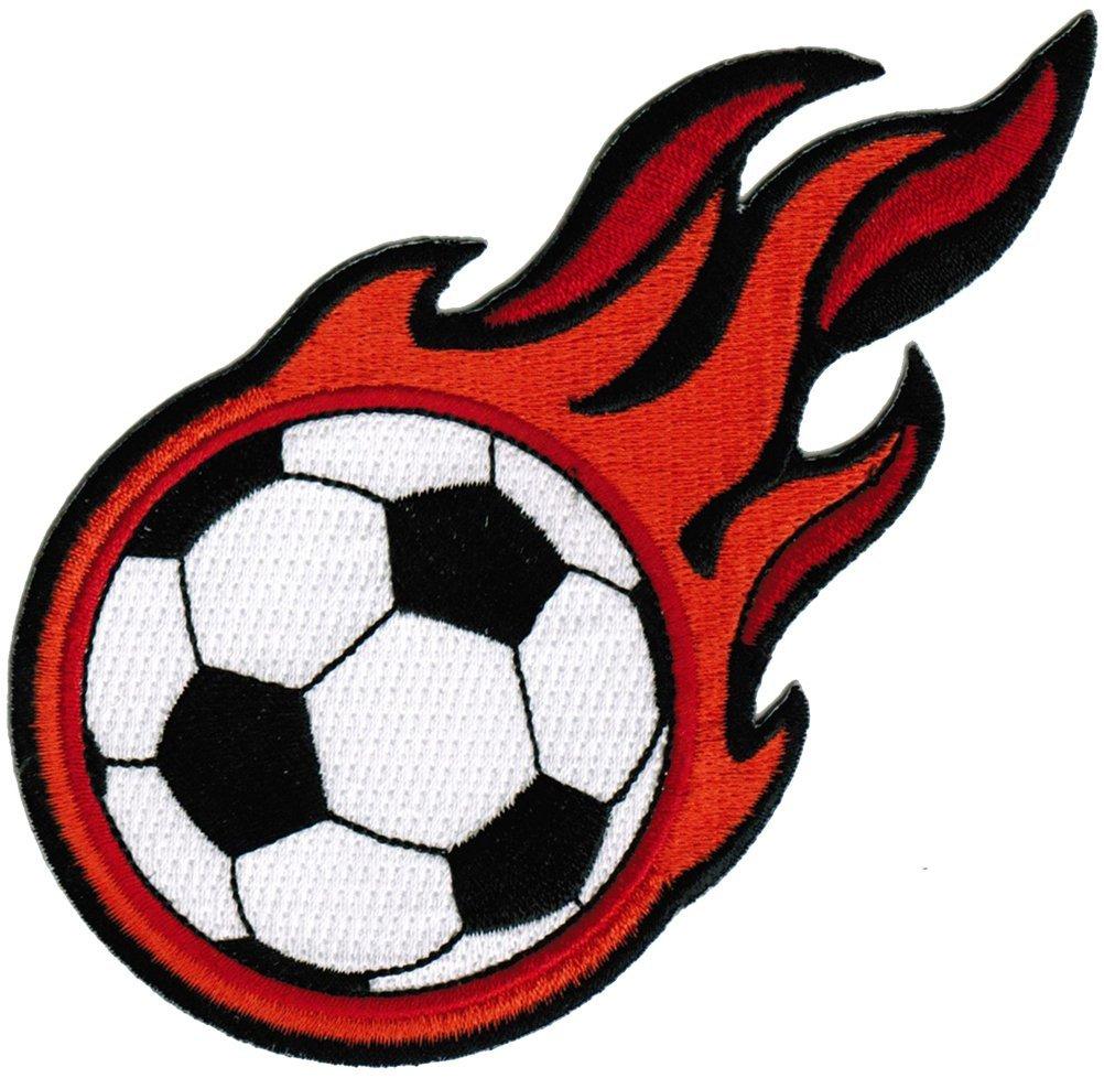 Cool Soccer Ball Logos Flaming soccer balls
