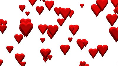 Floating hearts over white background - 890050 | Shutterstock Footage