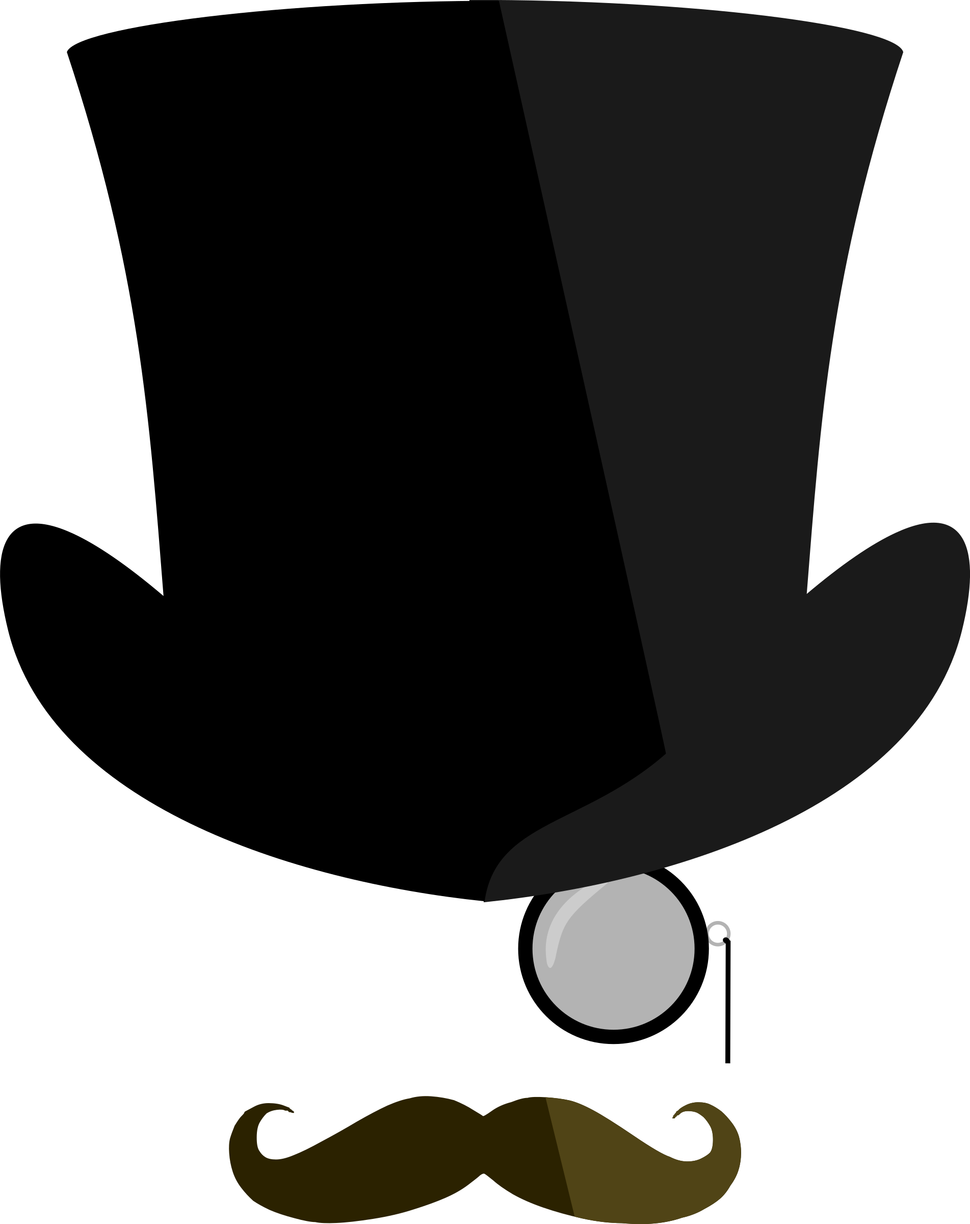 top hat clipart black and white clipart best