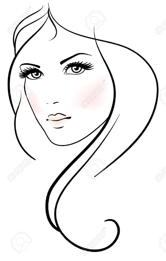 woman line drawing clipart best clip art faces to paint clip art faces expressions