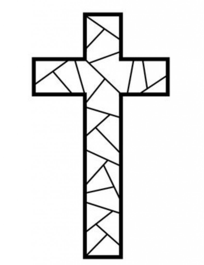 Coloring Pages Of Crosses With Flowers Cross Coloring