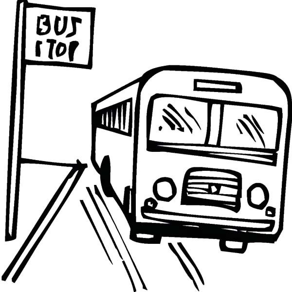 Line Drawing Bus : Bus line drawing clipart best