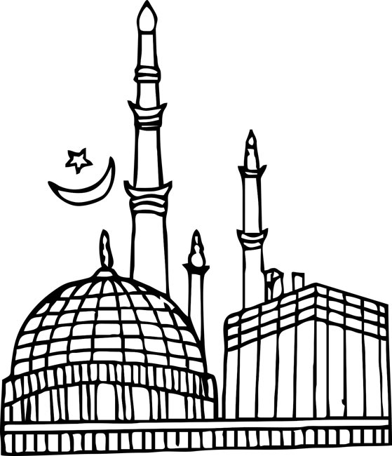 Mosque Black And.white Clip Art - ClipArt Best