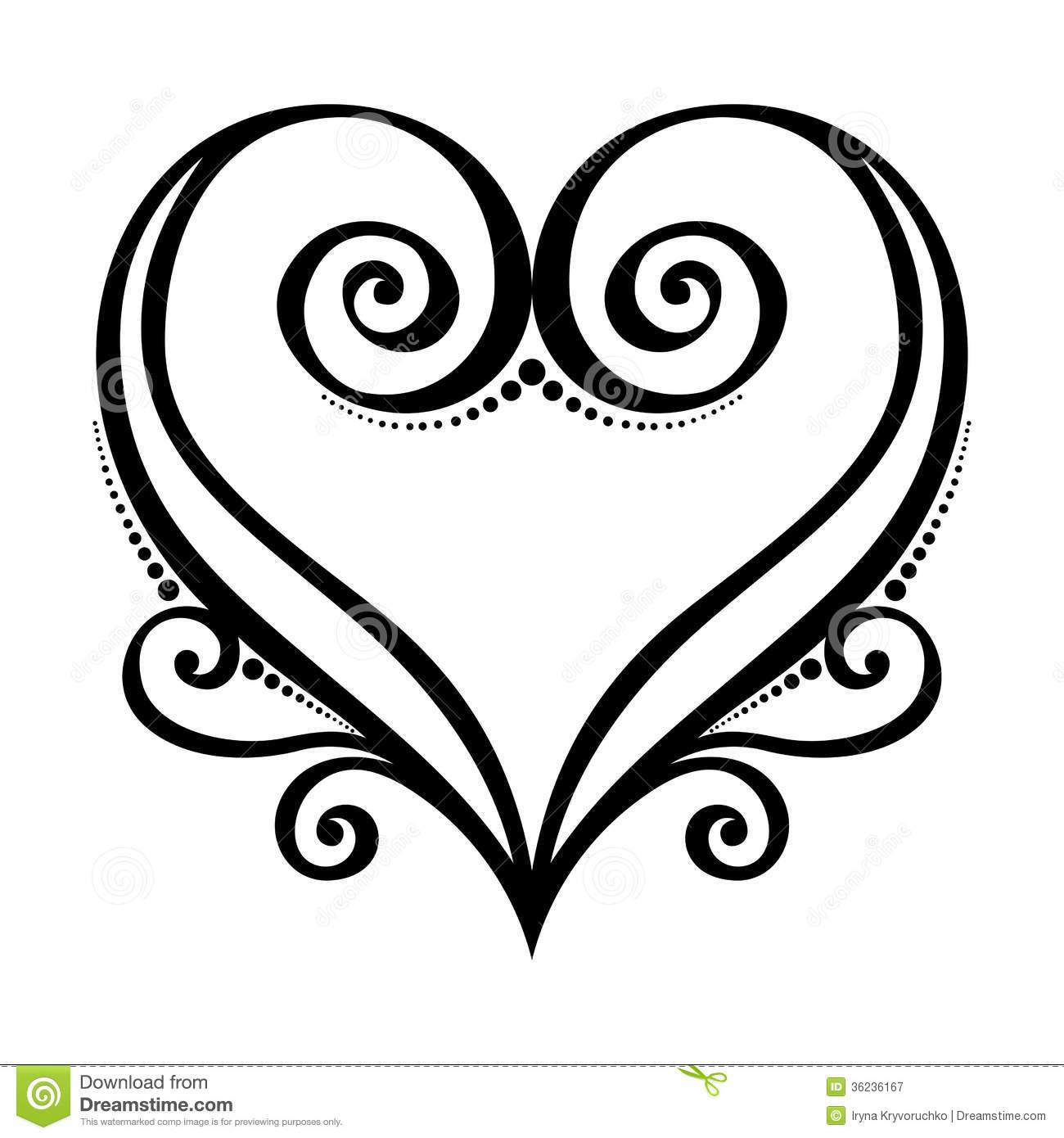 Heart Line Art Design : Art heart designs drawings clipart best