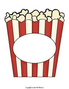 Clipart popcorn bucket clipart best for Popcorn container template