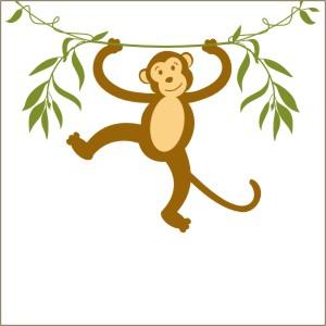 Swinging monkey clipart group