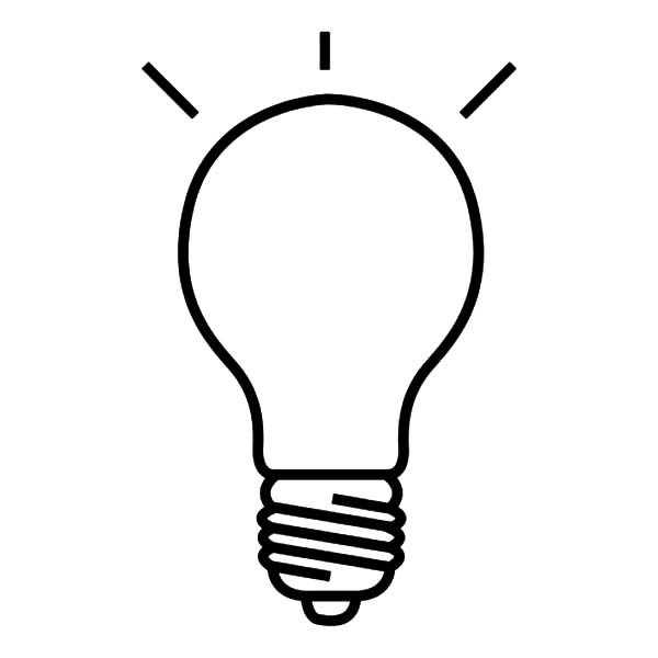 Awesome Light Bulb Coloring Page Picture - All For You Wallpaper Site