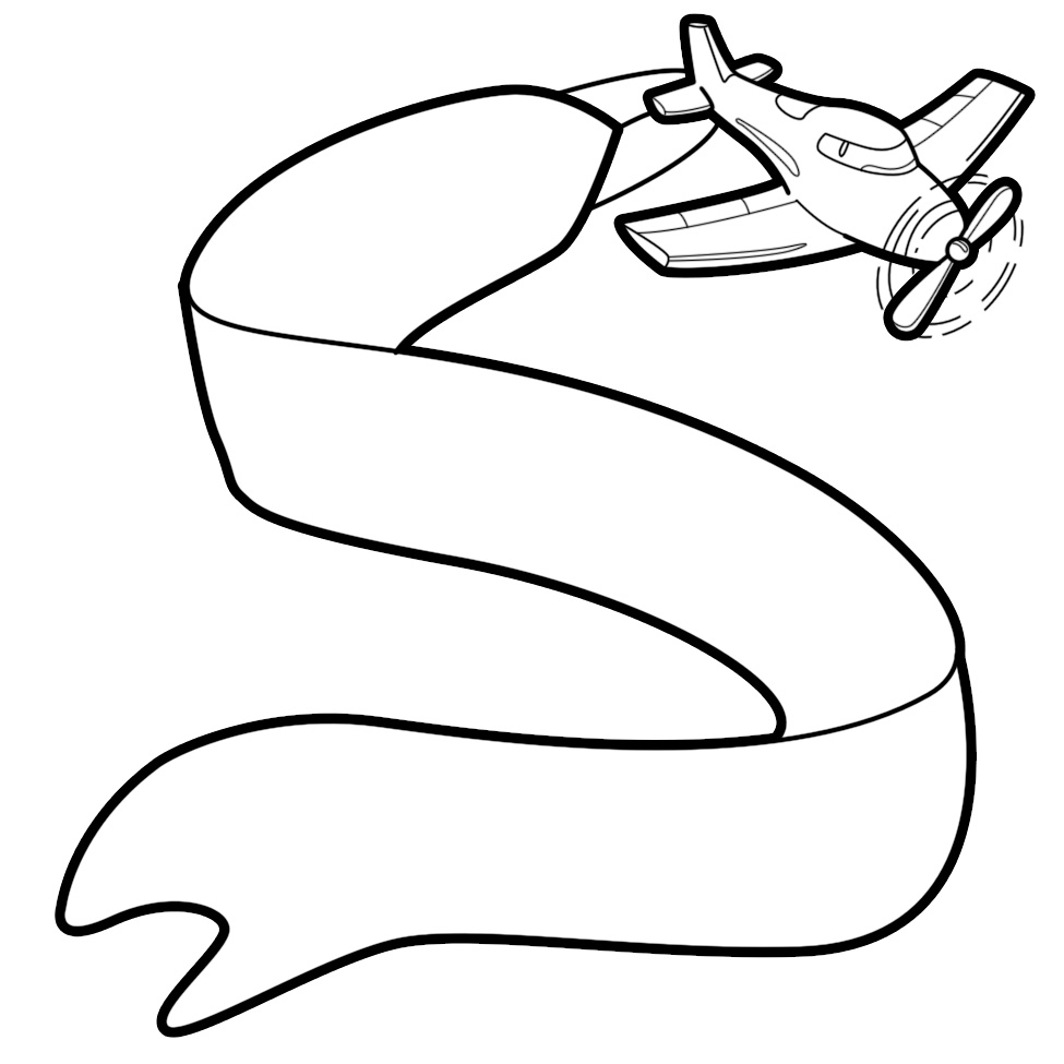 Plane with banner clipart - ClipartFox
