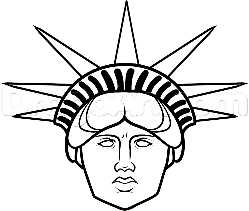 Statue Of Liberty Draw - ClipArt Best Statue Of Liberty Drawing Face