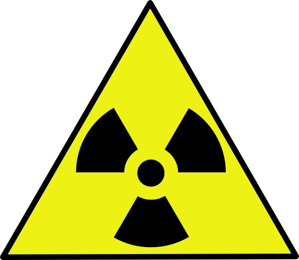 Nuclear Zone Warning Sign clip art - vector clip art online ...