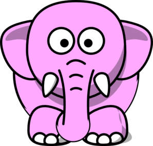 Pink Elephant clip art - vector clip art online, royalty free ...