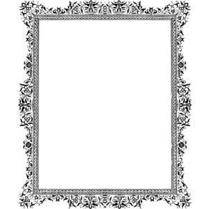 fancy border frame clipart best