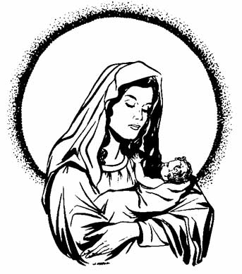 free printable coloring pages of the virgin mary - mother mary clipart clipart best