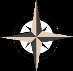 Tan Compass Rose clip art - vector clip art online, royalty free ...