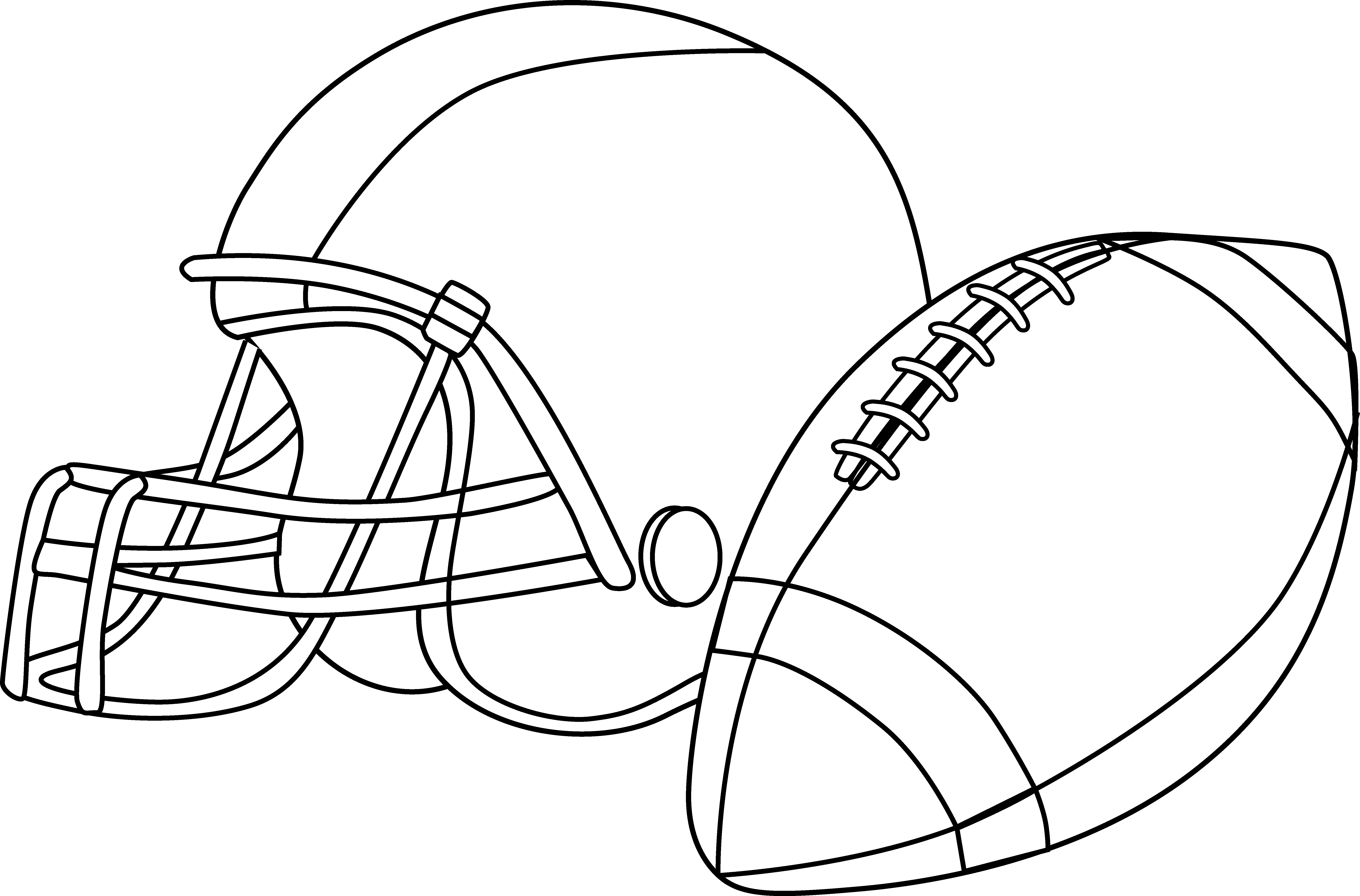 Line Drawing Football : Football pictures for line art clipart best