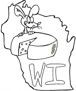 State Of Wisconsin coloring page | Super Coloring