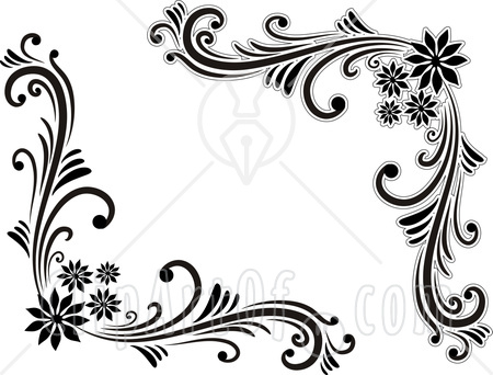 Black And White Flower Clipart in addition 24277285464099919 in addition Royalty Free Images Vintage Flourish Design also Scroll Border Designs likewise Flower Corner Border Designs Vector Free 27205. on floral clip art
