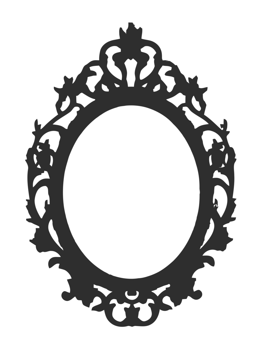 Antique frames png clipart best for Miroir noir download