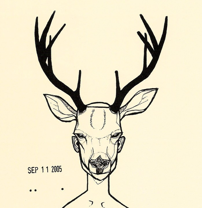 deer antlers drawing easy - photo #16