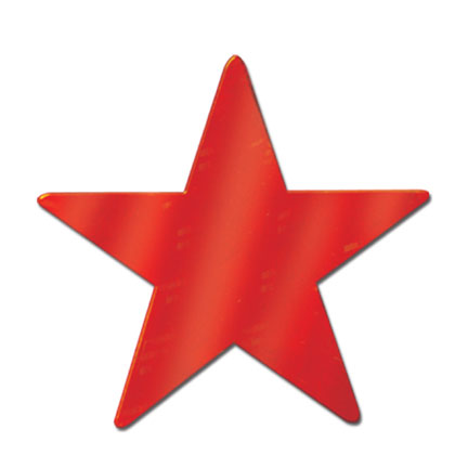 foil stars 5 party supplies - 5in red star cutout