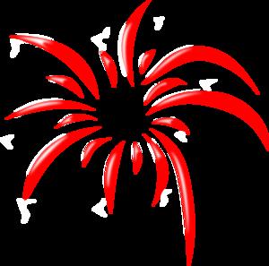 Complex Red Firework clip art - vector clip art online, royalty ...