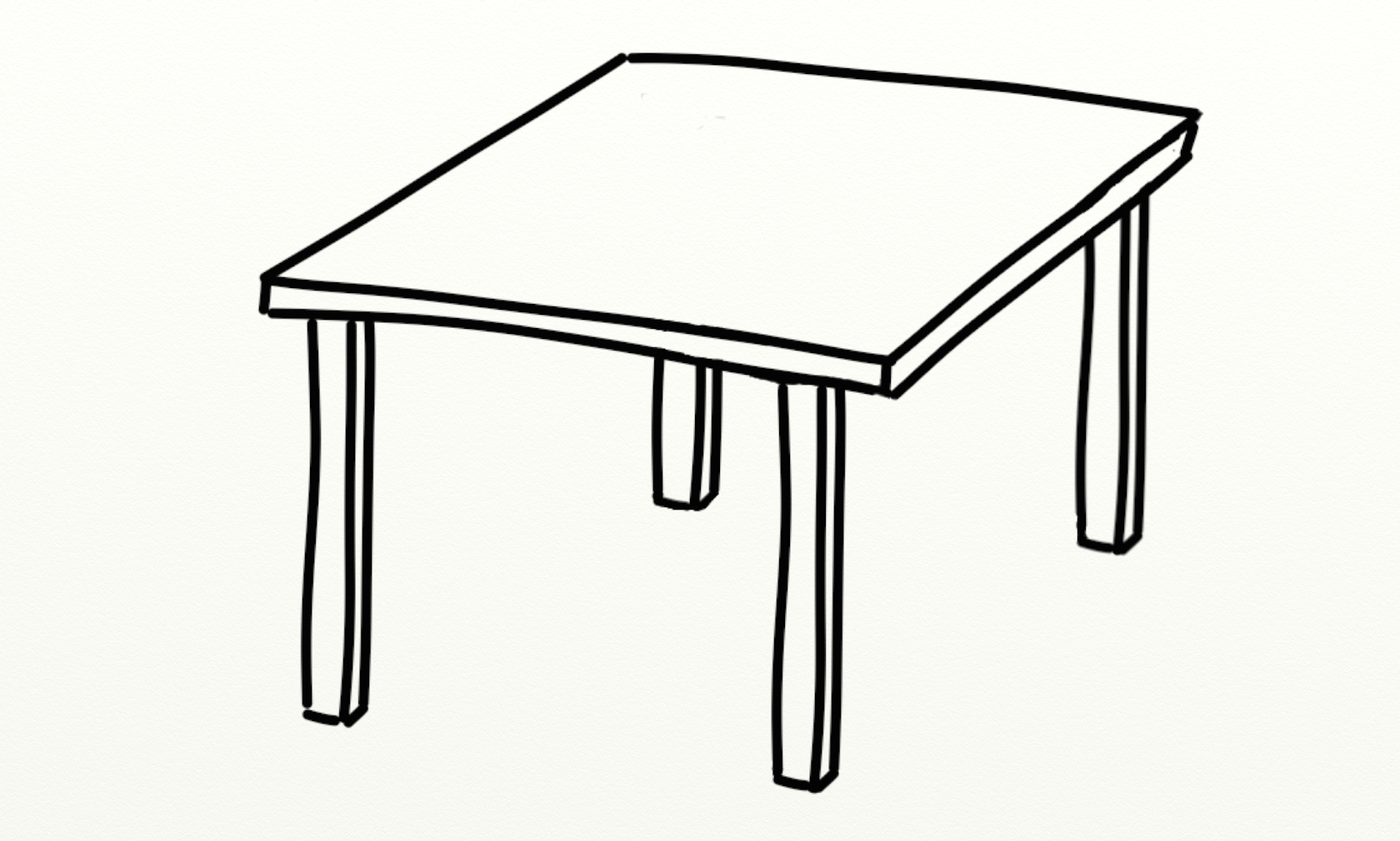 Line Art Table : Table outline clipart best