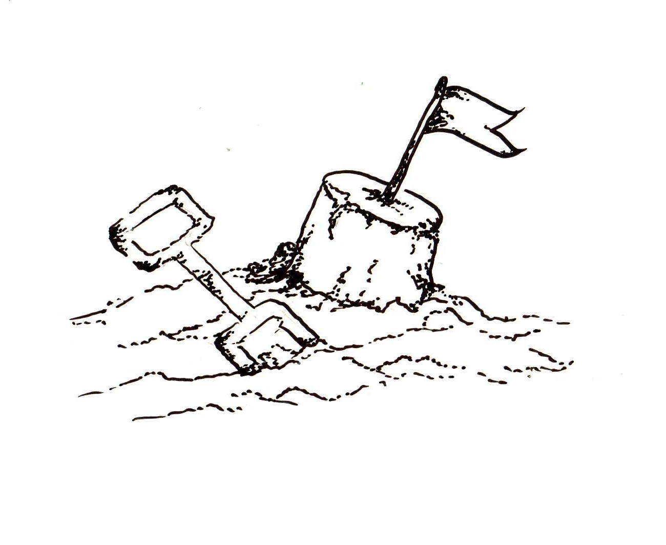 Sand Castle Drawing - ClipArt Best