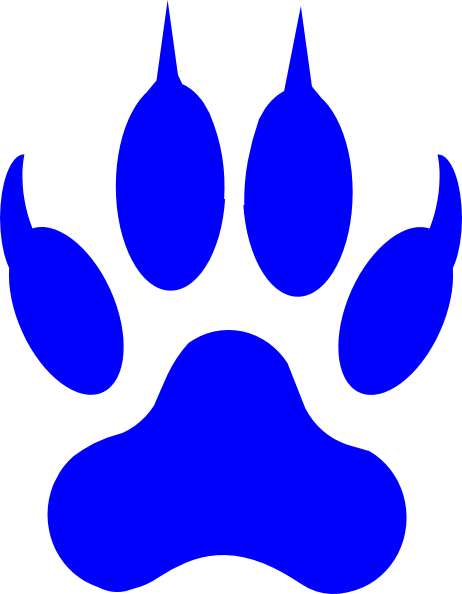 License Paw Print clip art - vector clip art online, royalty free ...