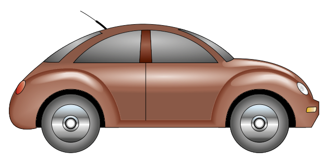 This brown car clip art which looks like a Beetle is free for personal or commercial use. You can use this clip art on your reports, magazines, e-books, newsletters, print ads, websites,