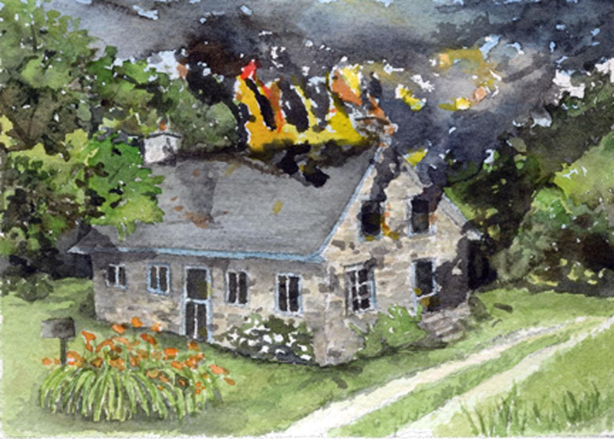 clipart burning house - photo #50