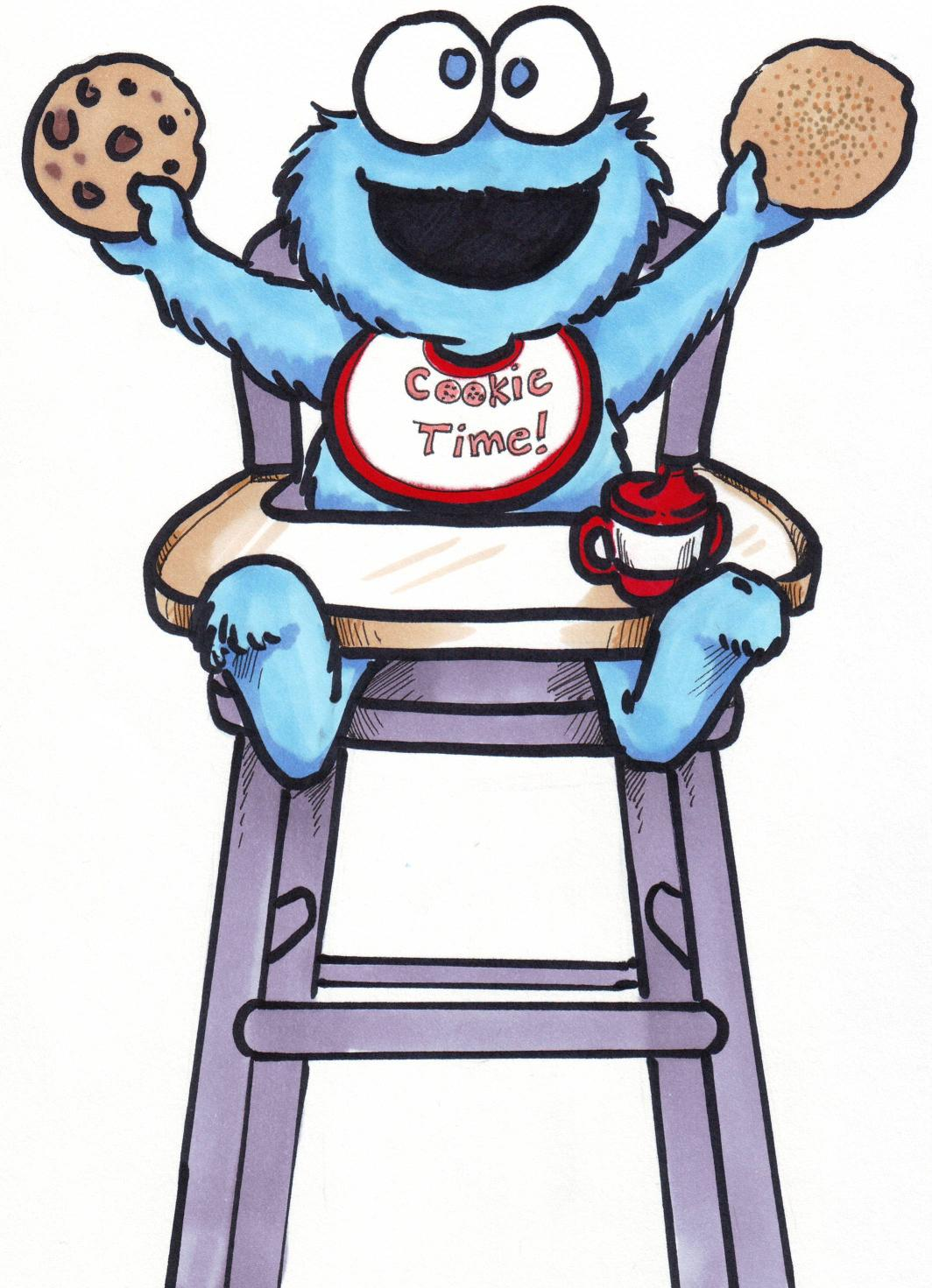 Cute Cookies Drawing Cute Baby Cookie Monster Frees