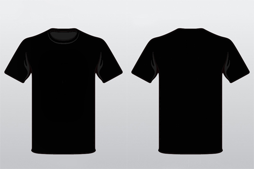 Black T Shirt Template Front And Back Psd - ClipArt Best