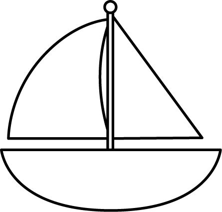 simple boat outline