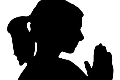 Woman Praying Silhouette - ClipArt Best