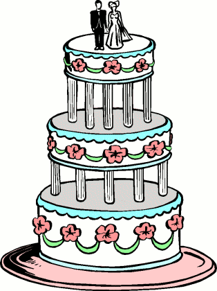 Wedding Cake Images Cartoon : Wedding Cake Cartoon - ClipArt Best