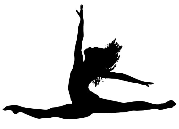 Gymnastics Silhouette Leap - Free Clipart Images