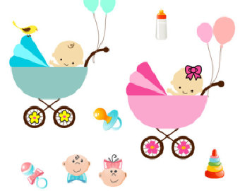 BABY SHOWER TWIN CLIPART - ClipArt Best